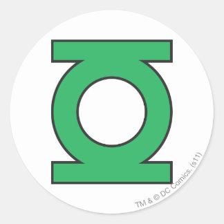 Symbole de lanterne vert sticker rond