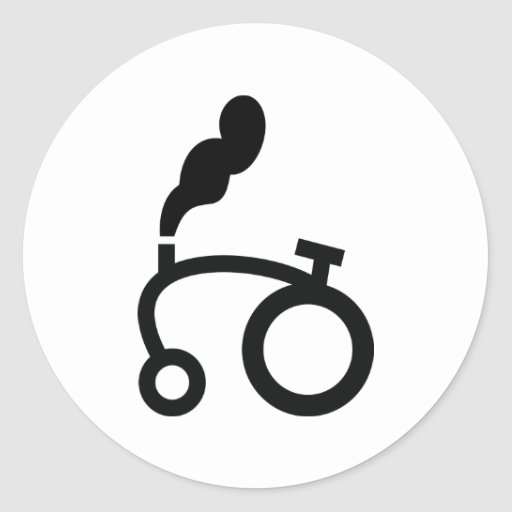 symbole de logo de tracteur de ferme adhésifs ronds