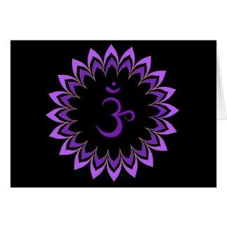 Symbole de l'OM/couronne Chakra Cartes