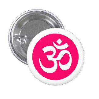 Symbole de l'OM sur l'insigne blanc et rose Badges