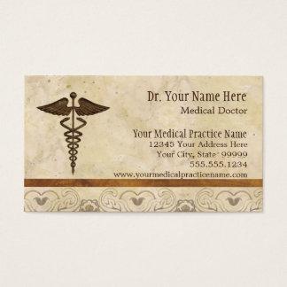 Symbole de médecine de médecin pratique de médecin cartes de visite