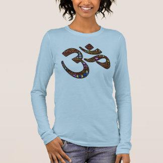 Symbole de méditation, conception emoji-décorée t-shirt à manches longues