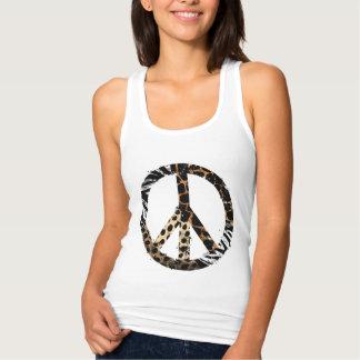 Symbole de paix animal africain de motif débardeur
