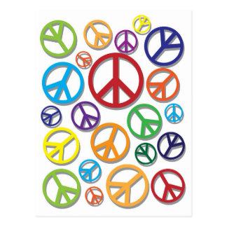 Symbole de paix avec la carte postale différente