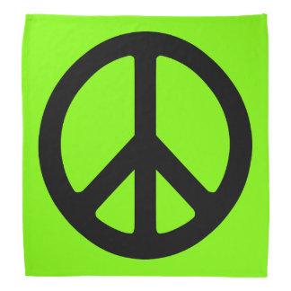 Symbole de paix Chartreuse et noir Bandana