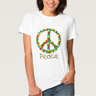 Symbole de paix d'autisme t-shirt