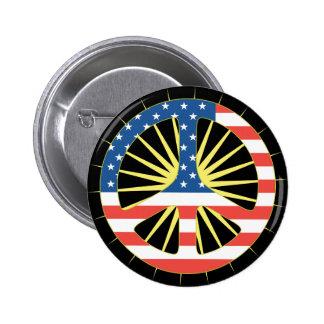 Symbole de paix de drapeau des USA Badge