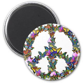 Symbole de paix de papillon aimants pour réfrigérateur