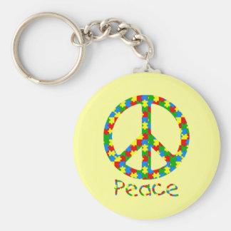 Symbole de paix de puzzle d autisme