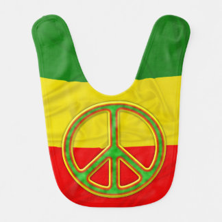 Symbole de paix de Rasta Bavoir De Bébé