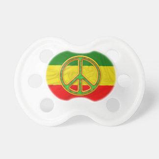 Symbole de paix de Rasta Tétines Pour Bébé