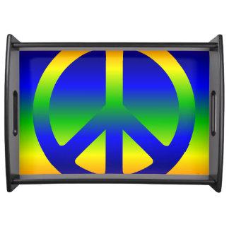 Symbole de paix génial d'arc-en-ciel plateaux repas