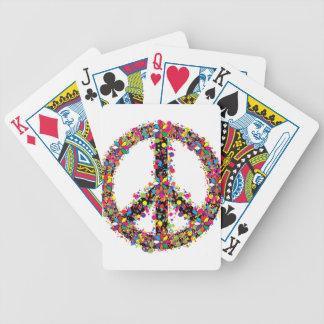 Symbole de paix grand jeu de cartes
