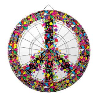 Symbole de paix grand jeu de fléchettes