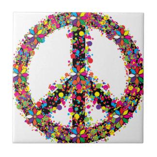 Symbole de paix grand petit carreau carré