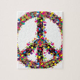 Symbole de paix grand puzzle