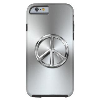 Symbole de paix graphique de gradient en acier coque tough iPhone 6