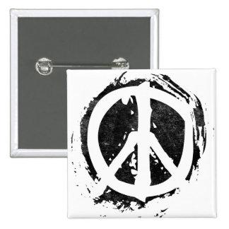 Symbole de paix grunge badges