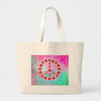 Symbole de paix hippie grand tote bag