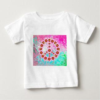 Symbole de paix hippie t-shirt pour bébé