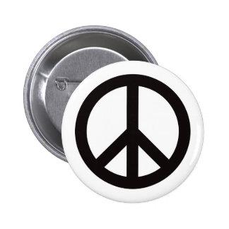Symbole de paix - noir badge rond 5 cm