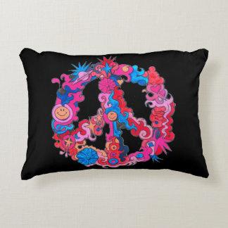 Symbole de paix psychédélique coussins décoratifs
