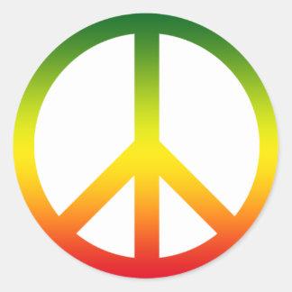 Symbole de paix Rasta Autocollant Rond