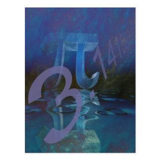Symbole de pi carte postale