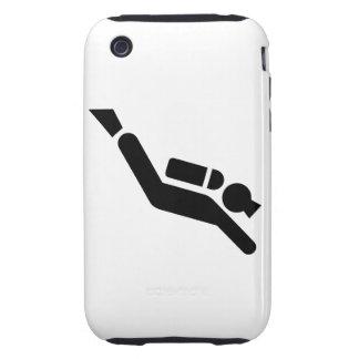 Symbole de plongée à l air coque tough iPhone 3