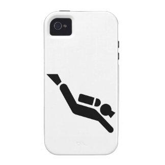 Symbole de plongée à l air coque Case-Mate iPhone 4