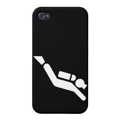 Symbole de plongée à l'air iPhone 4 case