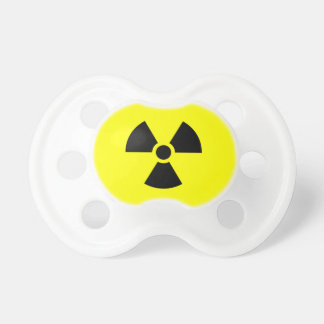 Symbole de radioactivité tétines pour bébé