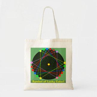 Symbole de sac chanceux de couleur
