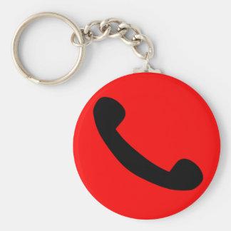 Symbole de téléphone porte-clé rond