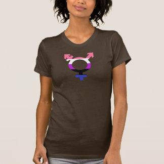 Symbole de transport de drapeau de Genderfluid T-shirt