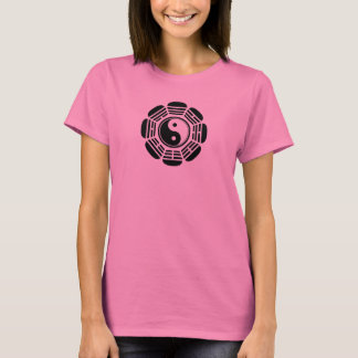 Symbole de Yin Tang de fleur T-shirt