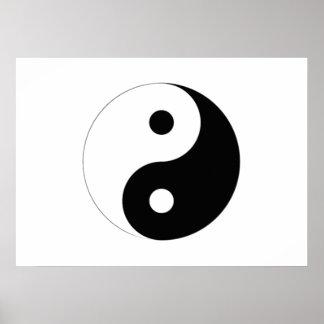 Symbole de Yin-Yang Posters