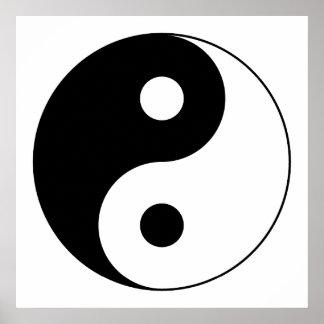 Symbole de Yin Yang Posters
