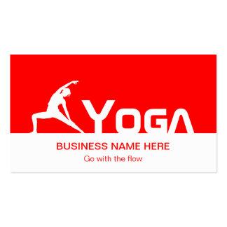 Symbole de yoga - rouge et blanc professionnels carte de visite standard