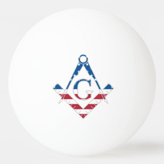 Symbole des Etats-Unis Freemasonic Balle Tennis De Table