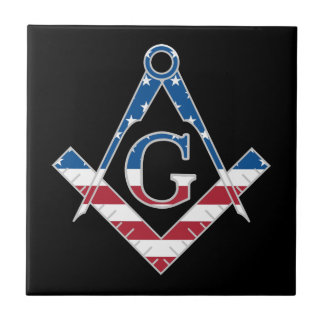 Symbole des Etats-Unis Freemasonic Carreau