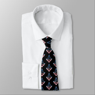 Symbole des Etats-Unis Freemasonic Cravates