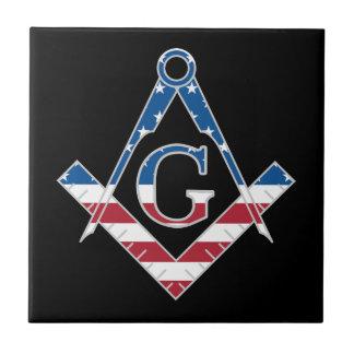 Symbole des Etats-Unis Freemasonic Petit Carreau Carré