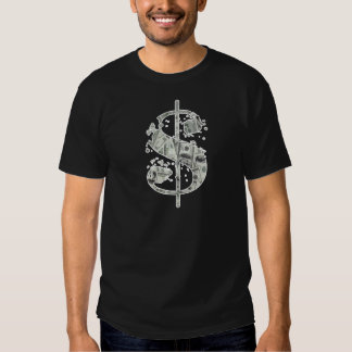 Symbole dollar d'argent d'argent liquide t-shirt
