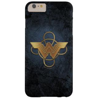 Symbole d'or de femme de merveille au-dessus de coque iPhone 6 plus barely there