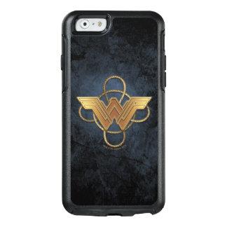Symbole d'or de femme de merveille au-dessus de coque OtterBox iPhone 6/6s