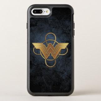 Symbole d'or de femme de merveille au-dessus de coque otterbox symmetry pour iPhone 7 plus