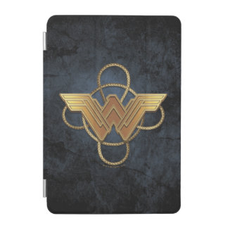 Symbole d'or de femme de merveille au-dessus de protection iPad mini