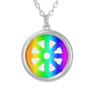 Symbole du bouddhisme (roue de Dharma) Pendentif Rond