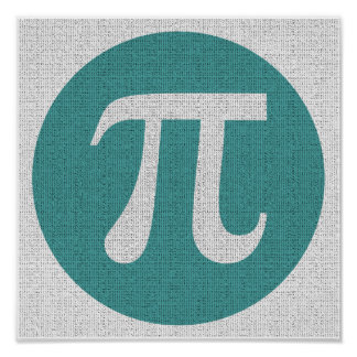 Symbole du geek pi de maths, cercle bleu et posters